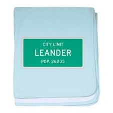 Leander, Texas City Limits baby blanket