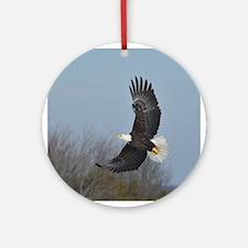 Bald Eagle soaring Ornament (Round)