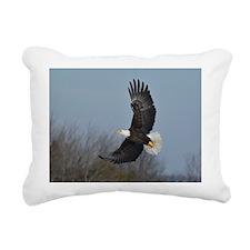 Bald Eagle soaring Rectangular Canvas Pillow