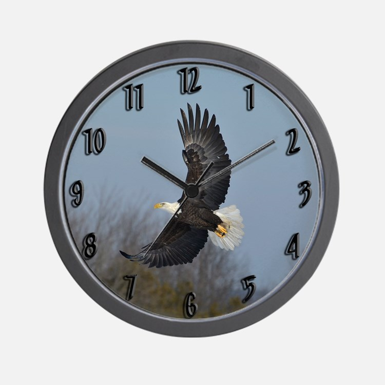 Bald Eagle soaring Wall Clock