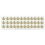 Masonic Circle 36 Cut up Stickers