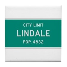 Lindale, Texas City Limits Tile Coaster