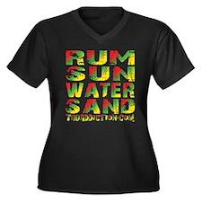 TIKI - RUM SUN WATER SAND - RASTA Plus Size T-Shir
