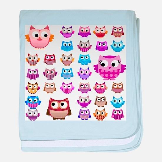 Owls! baby blanket