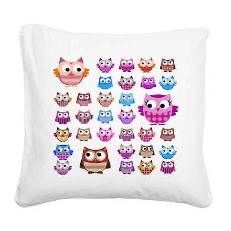 Owls! Square Canvas Pillow
