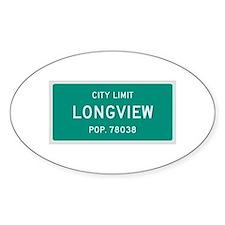 Longview, Texas City Limits Decal
