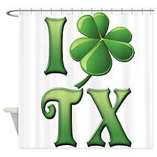 I Love Texas Shower Curtain