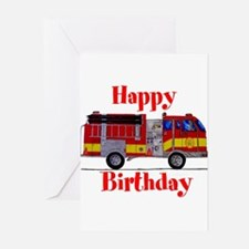 Happy Birthday Firefighter Card Greeting Cards