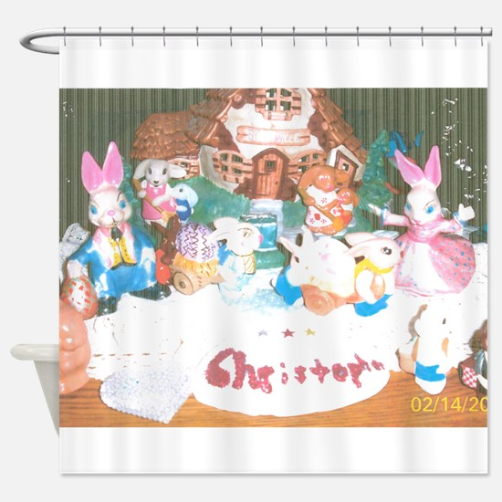 Happy Easter/Passover Christopher. Shower Curtain