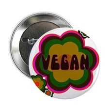 Retro vegan Button