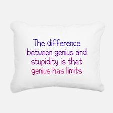 Stupidity versus Genius Rectangular Canvas Pillow