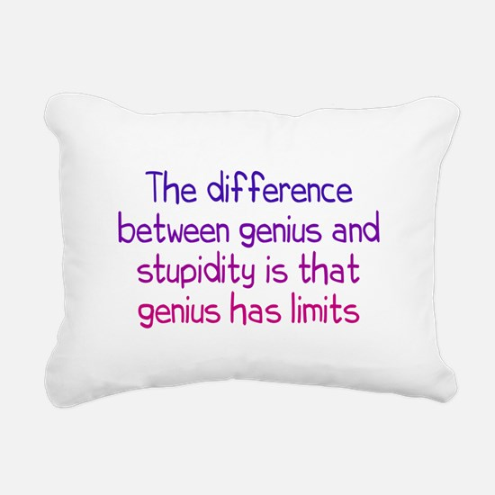 Stupidity versus Genius Rectangular Canvas Pillow