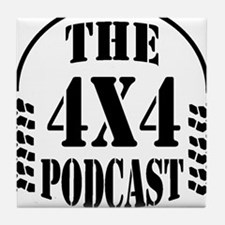 The 4x4 Podcast logo Tile Coaster
