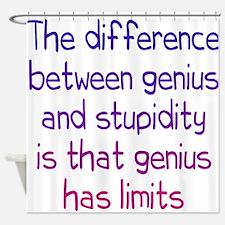 Stupidity versus Genius Shower Curtain