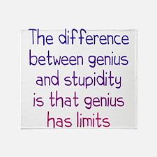 Stupidity versus Genius Throw Blanket