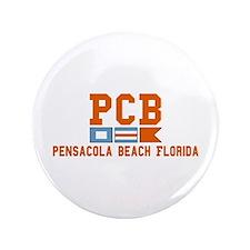 """Pensacola Beach - Nautical Design. 3.5"""" Button"""