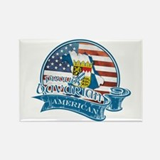 Proud Bavarian American Rectangle Magnet