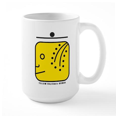 YELLOW Rhythmic HUMAN Large Mug