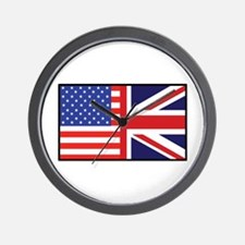 USA/Britain Wall Clock