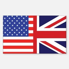USA/Britain Rectangle Decal