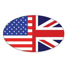USA/Britain Oval Decal
