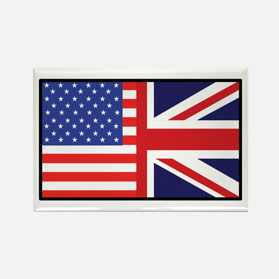 USA/Britain Rectangle Magnet