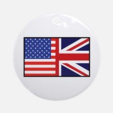 USA/Britain Ornament (Round)