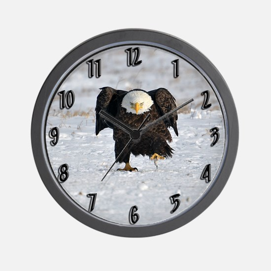 Eagle with an attitude Wall Clock