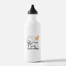 bichon clear heart Water Bottle