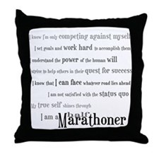 I'm a Half Marathoner Throw Pillow