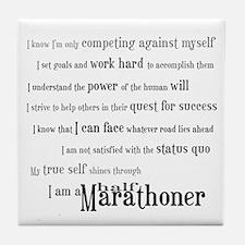 I'm a Half Marathoner Tile Coaster