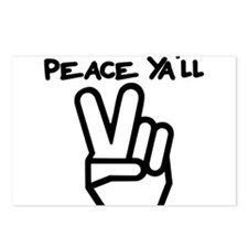 peace yall outline Postcards (Package of 8)