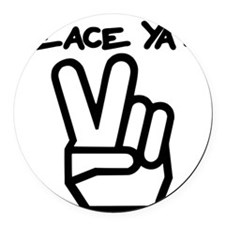 peace yall outline Round Car Magnet