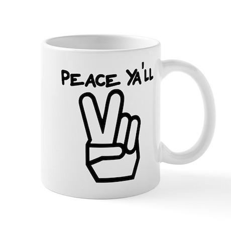 peace yall outline Mug