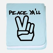 peace yall outline baby blanket