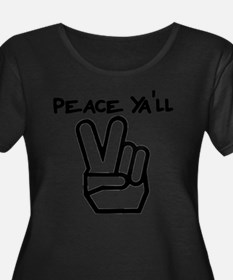 peace yall outline Plus Size T-Shirt