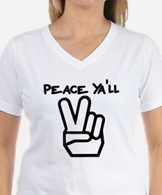 peace yall outline T-Shirt