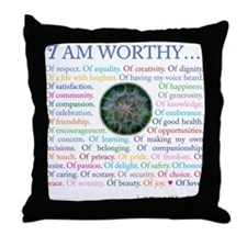 Personal Affirmations Throw Pillow