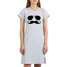 Macho Mustache Women's Nightshirt