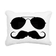 Macho Mustache Rectangular Canvas Pillow
