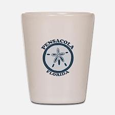 Pensacola Beach - Sand Dollar Design. Shot Glass