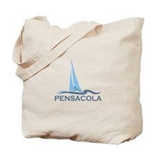 Pensacola Beach - Sailing Design. Tote Bag
