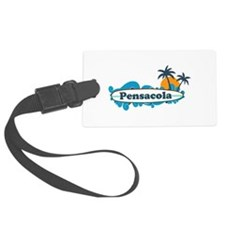 Pensacola Beach - Surf Design. Luggage Tag