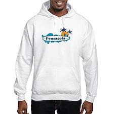 Pensacola Beach - Surf Design. Hoodie Sweatshirt
