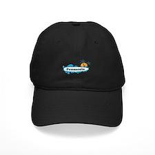 Pensacola Beach - Surf Design. Baseball Hat