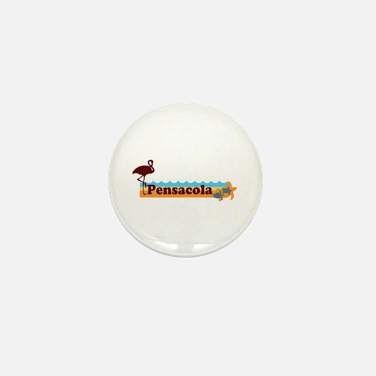 Pensacola Beach - Beach Design. Mini Button