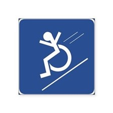 Wheelchair WHEE! Rectangle Sticker