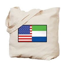 USA/Sierra Leone Tote Bag