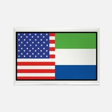 USA/Sierra Leone Rectangle Magnet