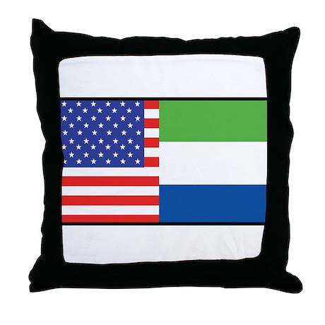 USA/Sierra Leone Throw Pillow